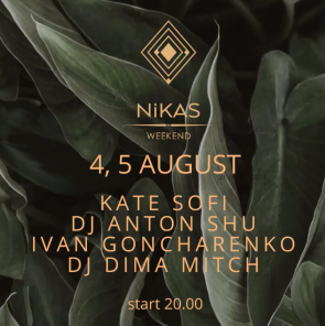 Nikas Weekend 4-5 august 2019